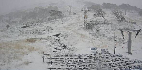 Probably still a bit early to put the chairs on the cable at perisher, but if it keeps