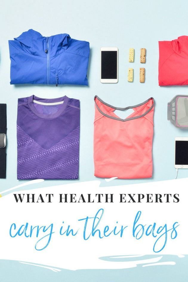 Here's What Health Experts Always Carry In Their