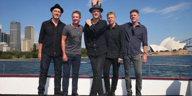 Bones Hillman, Rob Hirst, Peter Garrett, Jim Moginie and Martin Rotsey of Midnight Oil are preparing for a massive 2017 world tour.