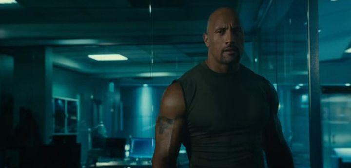 Dwayne 'The Rock' Johnson fighting crime as Luke Hobbs