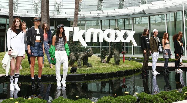Models showcase designs during the TK Maxx Australia launch on April 11, 2017 in Sydney,