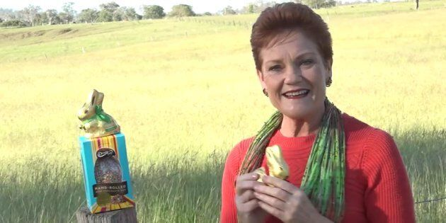 Hanson wants Australia to boycott Cadbury Easter
