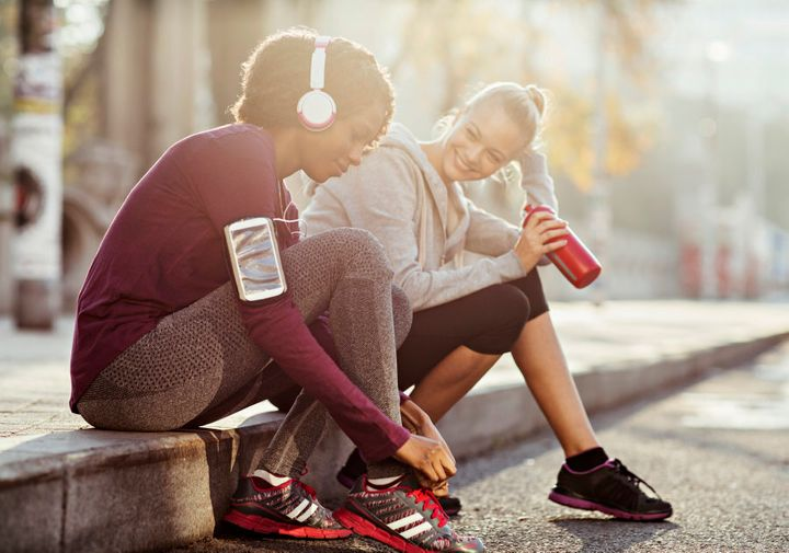 Workout with a friend to hold each other accountable.