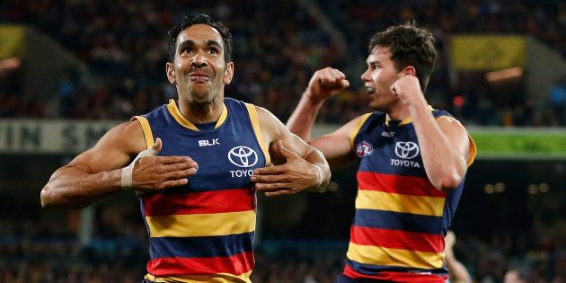 This was Betts in 2016. We like this photo because it reminds us of Nicky Winmar's famous