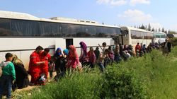 Bombing Of Syrian Bus Convoy Kills Dozens Outside