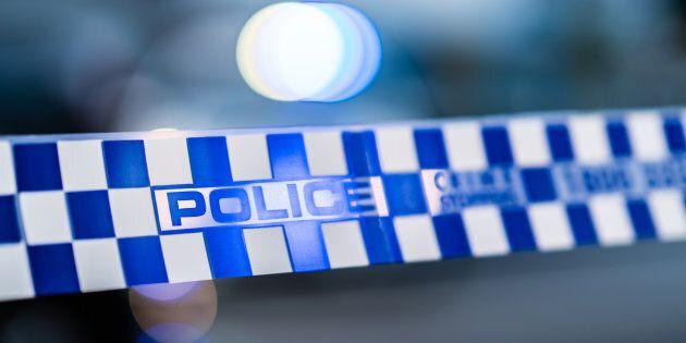 Victoria Police barrier tape, Melbourne,