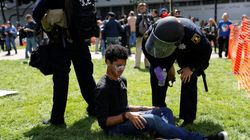 Rival Protesters Clash Over Trump In Berkeley,