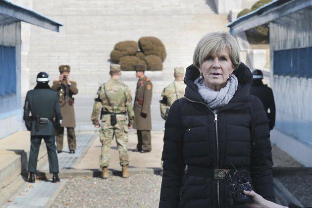 Julie Bishop visiting the DMZ on Feb 18,