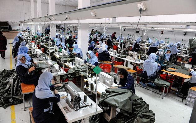 A garment factory in Kabul relies on a steady supply of electricity to