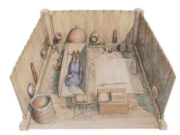 An artists impression of how the tomb could have