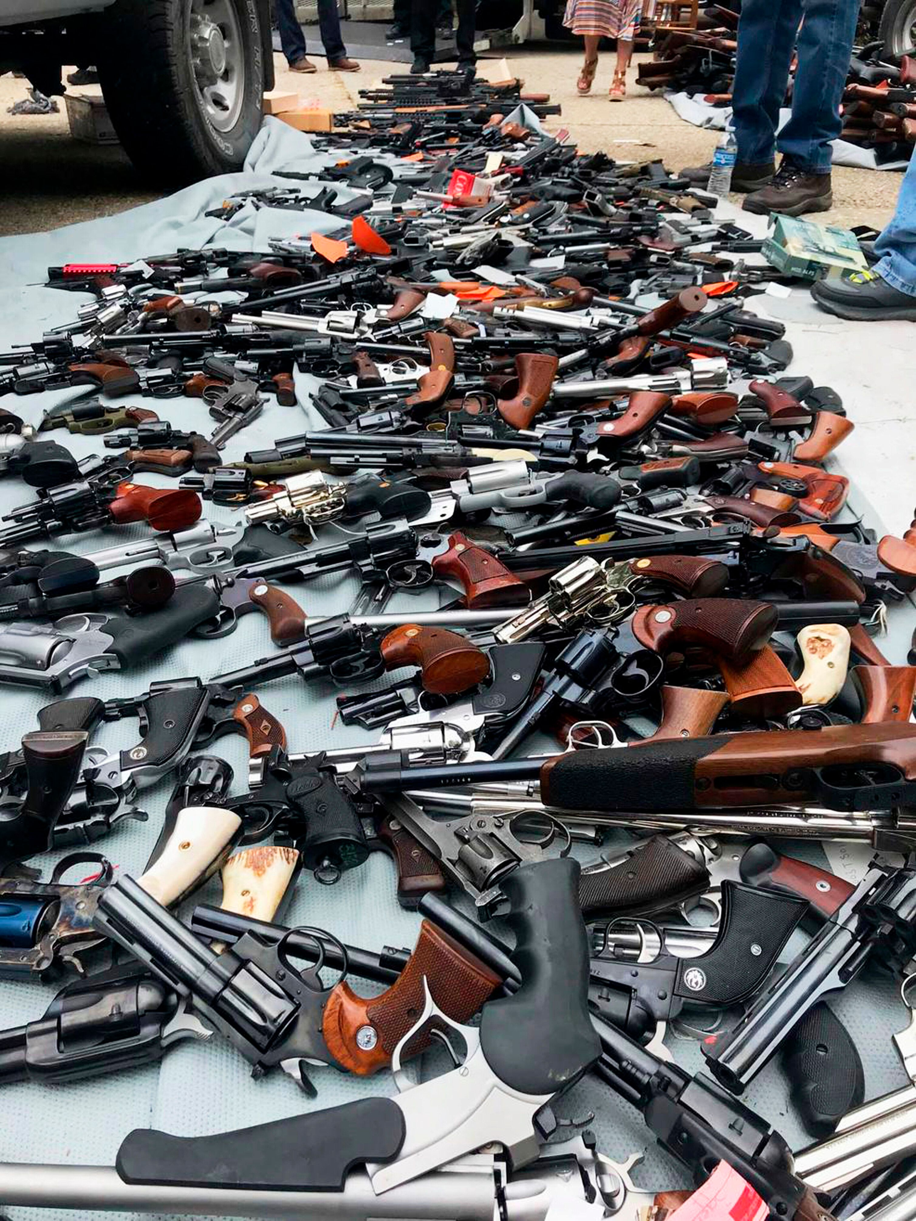 Authorities seized more than a thousand guns from the Holmby Hills home after getting an anonymous tip regarding illegal fire