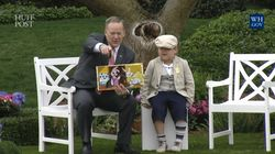 Sean Spicer Read This Book At The White House Easter Egg Roll And It Was