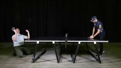 We challenged F1 driver Daniel Ricciardo to a ping pong match (and