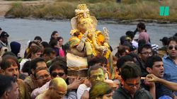 Hindus Descend On Stanwell Park Beach For Ganesh
