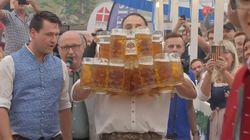 Watch This Man Break The Beer-Carrying World Record With 29
