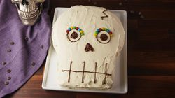 Watch: How To Bake A Cute But Spooky Skull Cake For