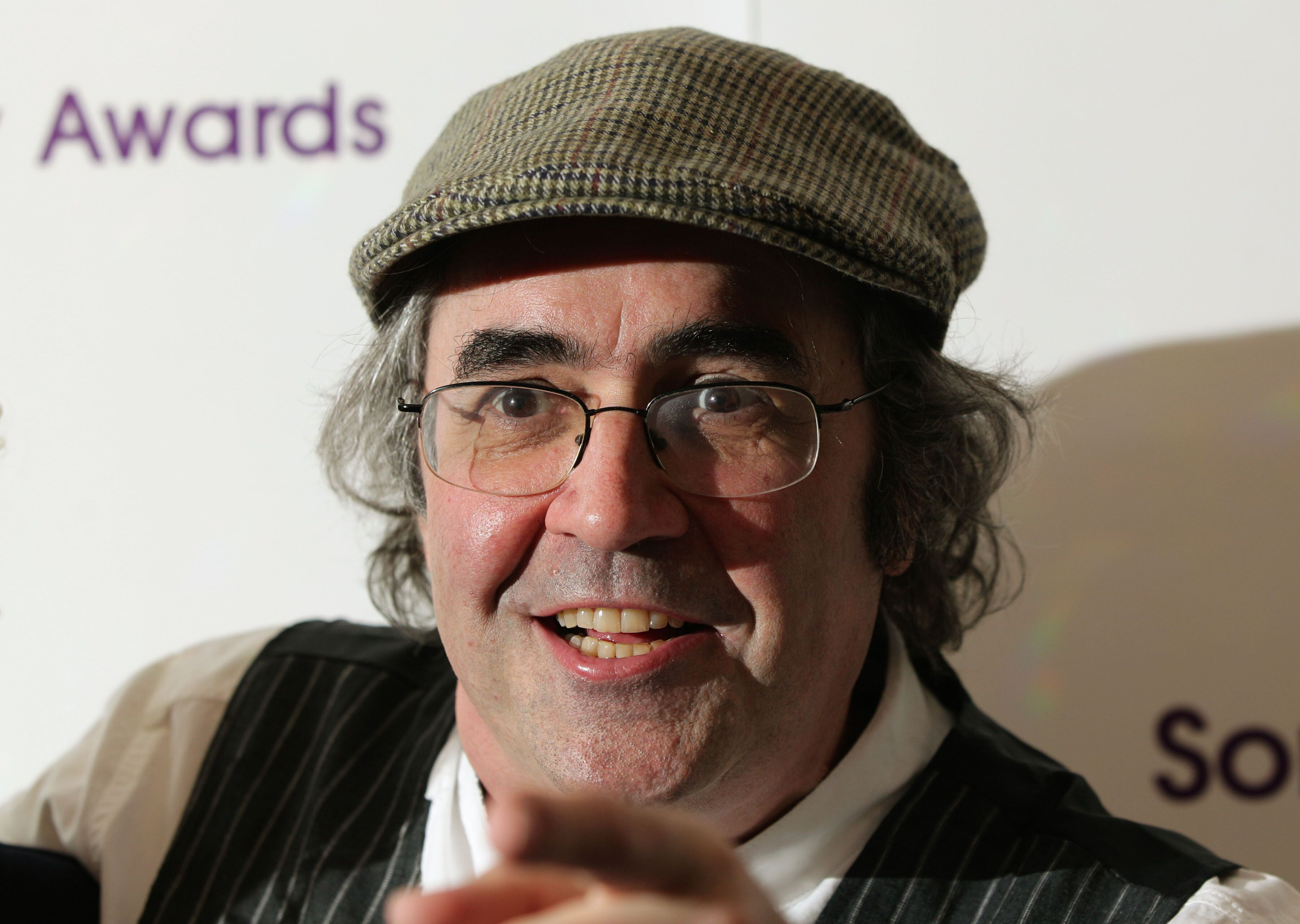 Danny Baker arriving for the Sony Radio Academy Awards, at Grosvenor House Hotel in central London.   (Photo by Yui Mok/PA Images via Getty Images)