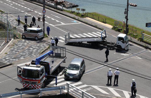 事故現場の交差点。