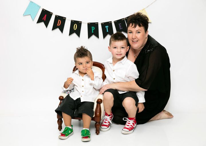 Jodie and her sons.
