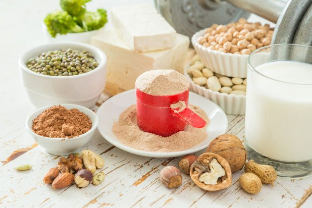 Protein is found in many plant foods like legumes, nuts, seeds and soy products.