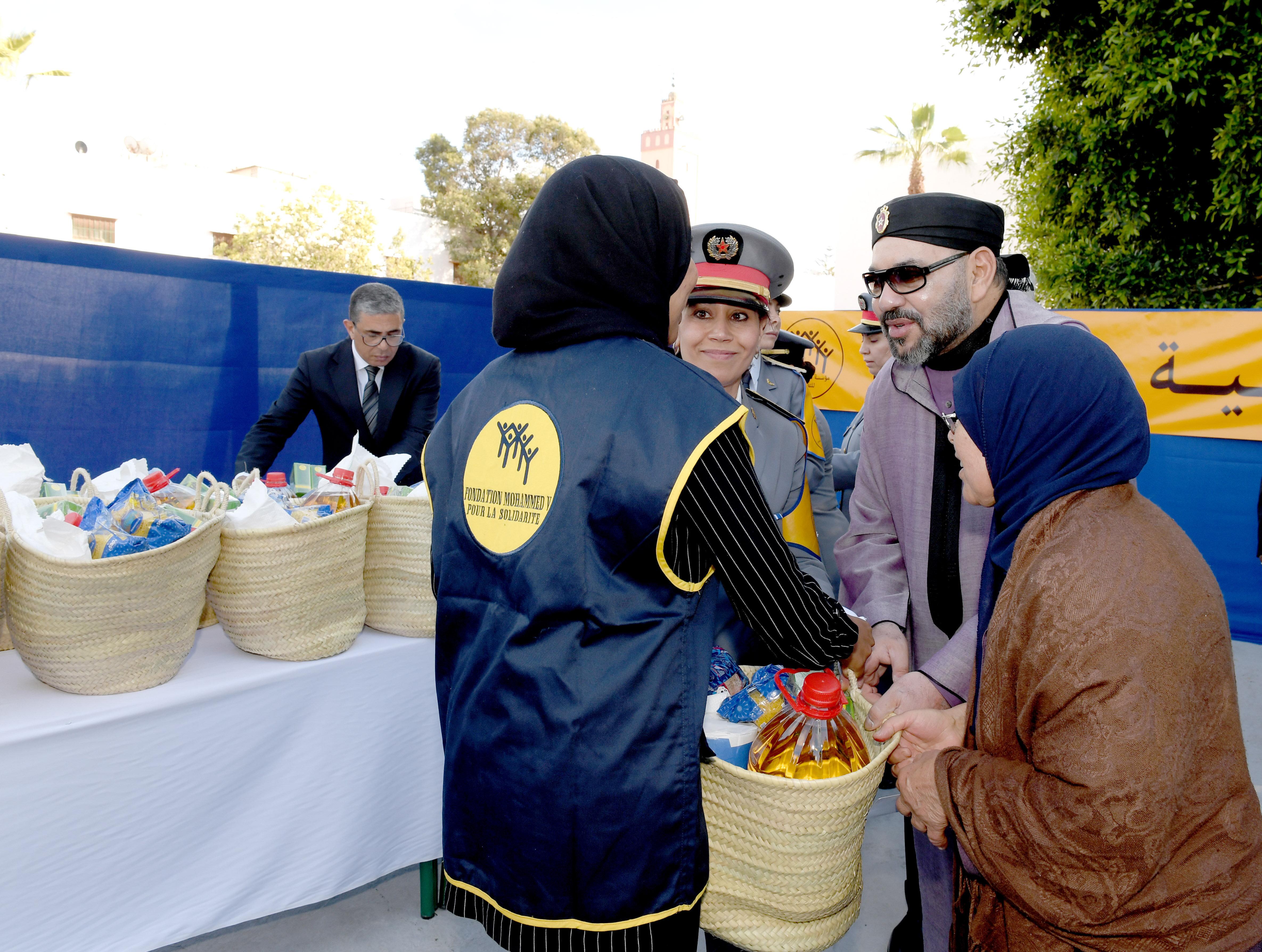 Rabat: Le roi lance l'opération nationale de soutien alimentaire