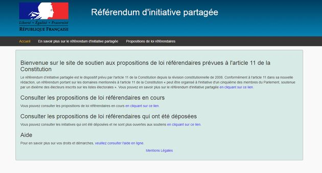 Le ministère de l'Intérieur organisera le recueil des signatures sur un site