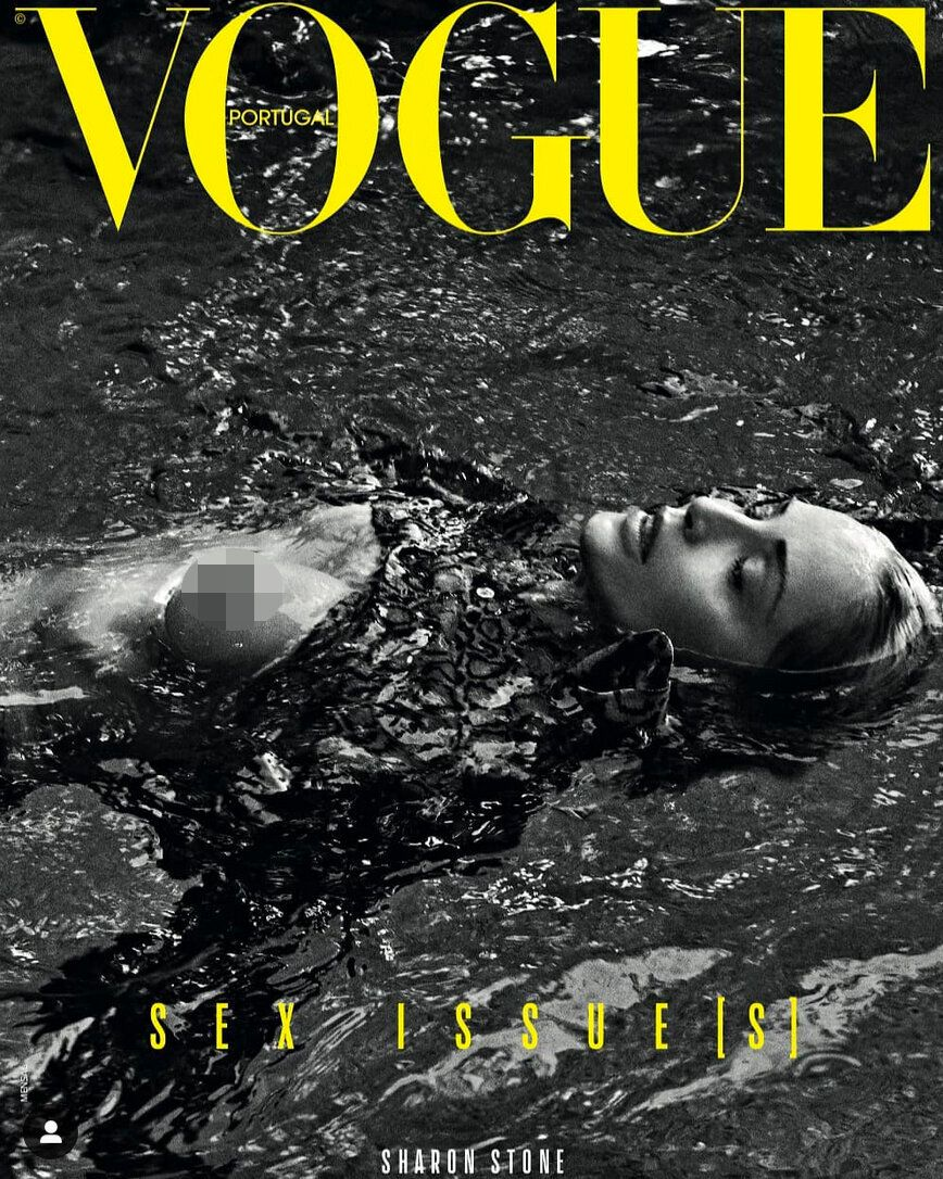 Stone is skinny-dipping in the racy cover shoot. (Photo: Vogue Portugal)