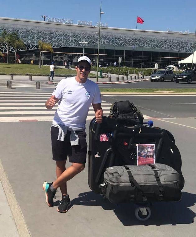 L'athlète marocain Hassan Baraka participe au championnat du monde Ultraman en