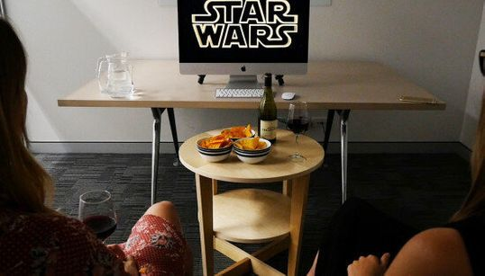Two People Watch Star Wars For The First