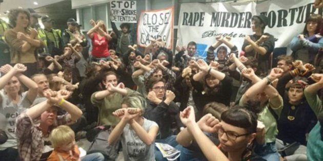 Protesters occupy an immigration building in