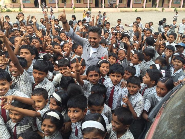 Here's an excited Fahim Vora who is known as the 'spiritual leader' of 'We Can't Wait.' Vora was the young man who met Balla on a train in Mumbai and invited him to local schools that had no toilets for girls.
