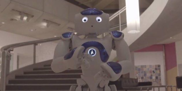 Aggie the robot is a little