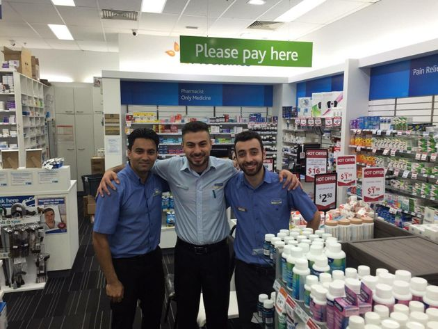 Movses Injejikian (R) at West Ryde Chemmart Pharmacy, where he works as a pharmacy assistant helping...