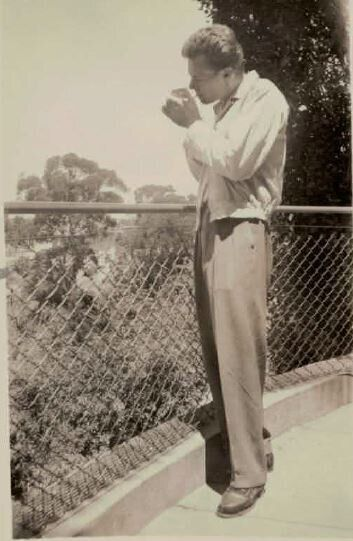 Lisa's father Ray lighting up in the Blue Mountains in the '50s. (When, sadly, smoking was just what...