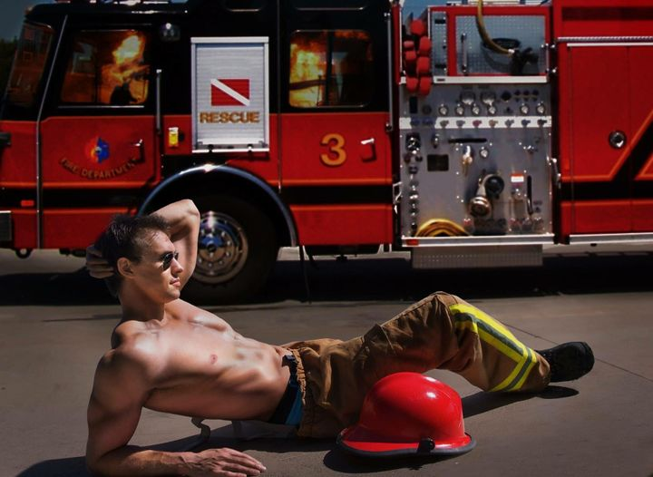 Samuel Priestly works in a business he co-owns called Men On Fire Australia.