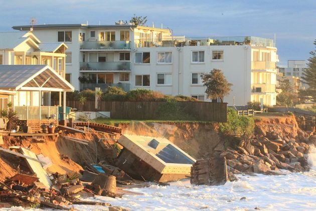 A swimming pool was washed into the ocean in Collaroy,