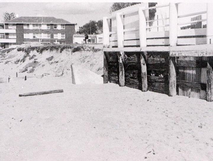 Collaroy coastal erosion in 1967.