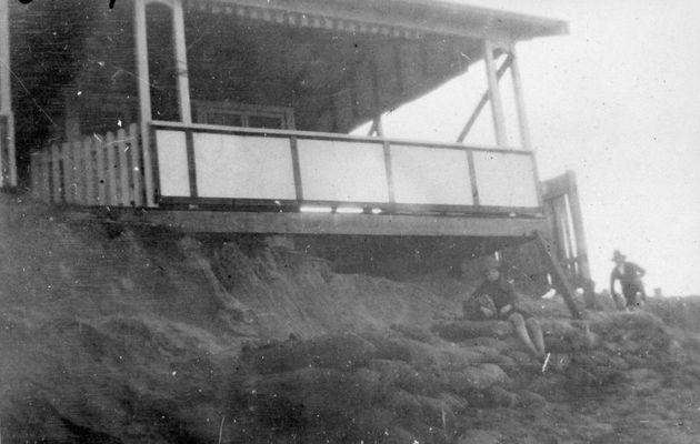 Beach erosion in 1945 at