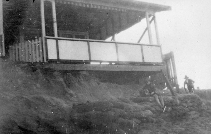 Beach erosion in 1945 at Collaroy.