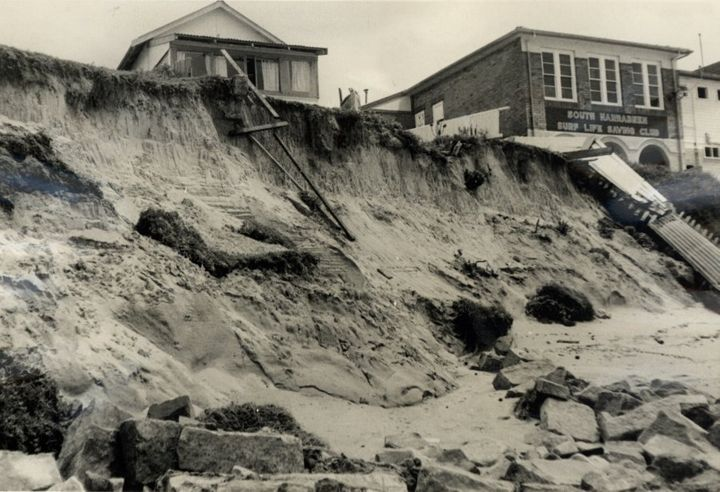 In 1966 another storm caused erosion at Collaroy beach.