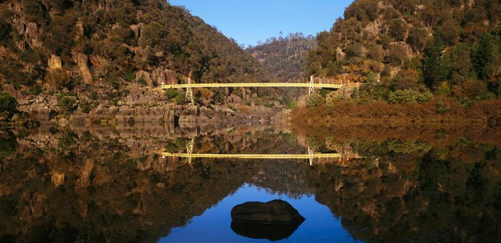 Cataract Gorge in calm conditions.
