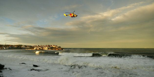 It is yet to be determined whether the body is that of the man who went missing off Bondi Beach on Monday.
