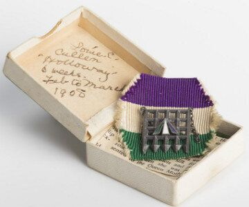 Suffragette Louise Cullen's Holloway Prison Brooch