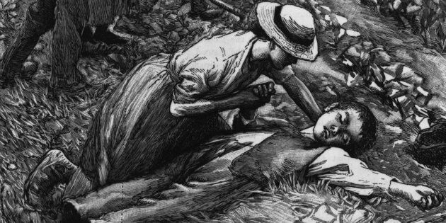 1867: A young farm hand collapses from