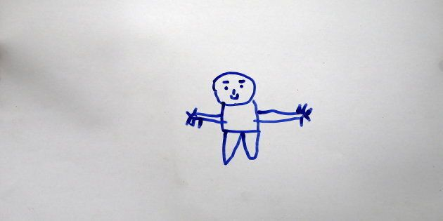 A drawing by Gays Cardak, 6, a Syrian refugee