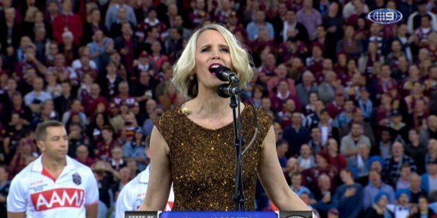 Karen Jacobsen, the voice of Siri, sings the National