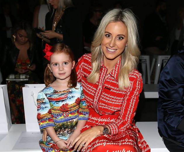 Roxy Jacenko and daughter Pixie Curtis attend Mercedes-Benz Fashion Week in