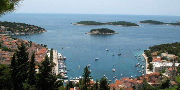 The Croatian island where the incident took place is popular with
