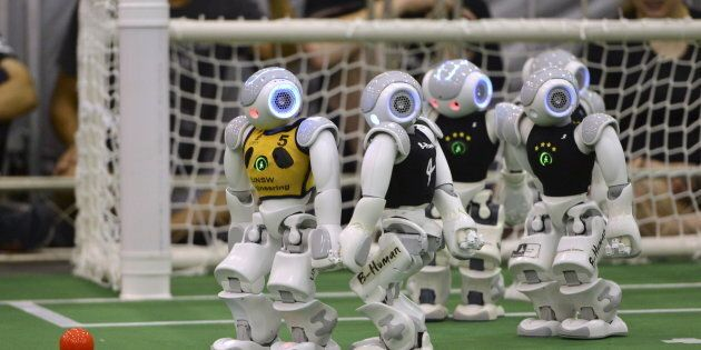 Humanoid robots will clash in