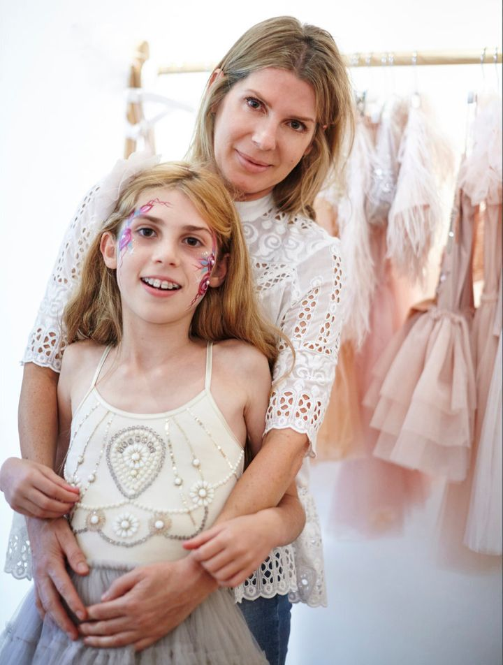 Andrea Rembeck began her business after trying in vain to find a princess-style dress that wasn't tuelled to the eyeballs.